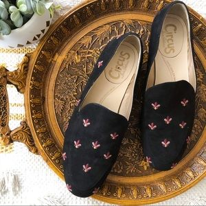 Sam Edelman Circus Harlem flower black loafer slip